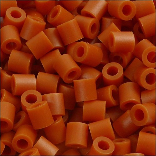 100 x Fuse Beads, Size 5x5mm, Hole Size 2.5mm, Red Brown (5) Medium, 1 (CC751050)