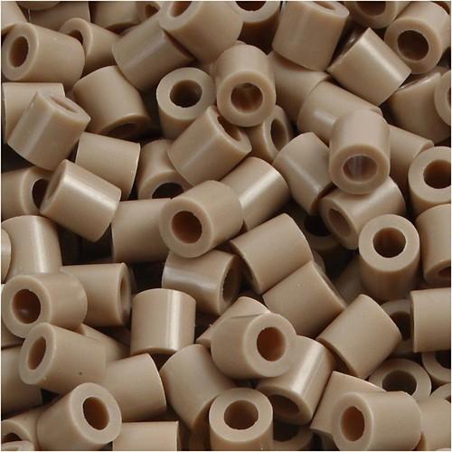 100 x Fuse Beads, Size 5x5mm, Hole Size 2.5mm, Beige (6) Medium, 1 (CC751060)