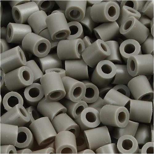 100 x Fuse Beads, Size 5x5mm, Hole Size 2.5mm, Ash (8) Medium, 1 (CC751080)