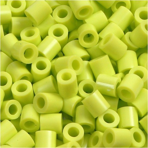 100 x Fuse Beads, Size 5x5mm, Hole Size 2.5mm, Lime Green (9) Medium, 1 (CC751090)