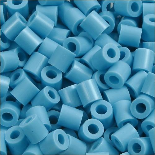 100 x Fuse Beads, Size 5x5mm, Hole Size 2.5mm, Turquoise (10) Medium, 1 (CC751100)