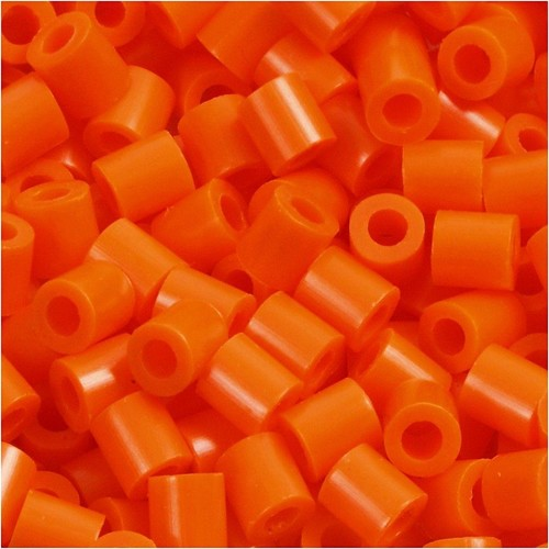 100 x Fuse Beads, Size 5x5mm, Hole Size 2.5mm, Orange (13) Medium, 1 (CC751130)