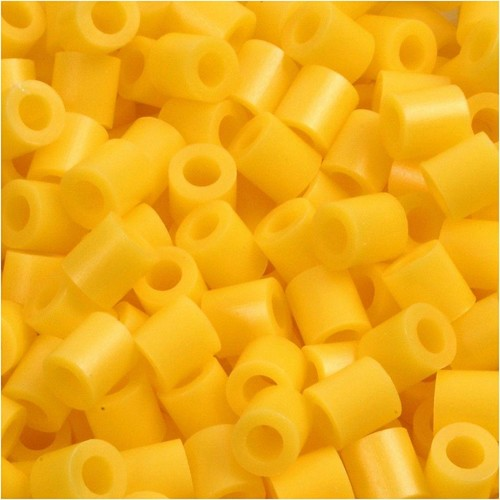 100 x Fuse Beads, Size 5x5mm, Hole Size 2.5mm, Yellow (14) Medium, 1 (CC751140)