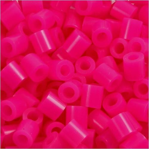 100 x Fuse Beads, Size 5x5mm, Hole Size 2.5mm, Cerise (18) Medium, 1 (CC751180)