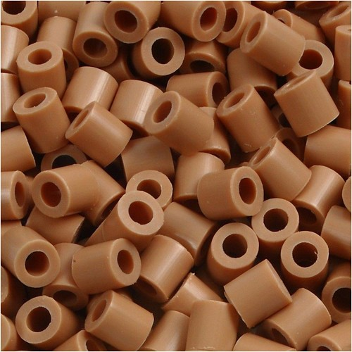 100 x Fuse Beads, Size 5x5mm, Hole Size 2.5mm, Light Brown (20) Medium, 1 (CC751200)