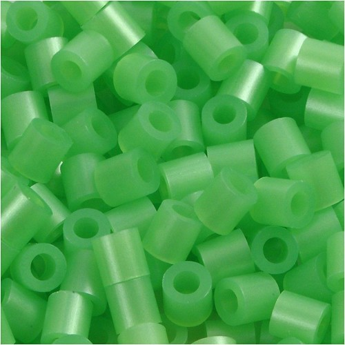 100 x Fuse Beads, Size 5x5mm, Hole Size 2.5mm, Green Mother-Of-Pearl (22) Medium, 1 (CC751220)