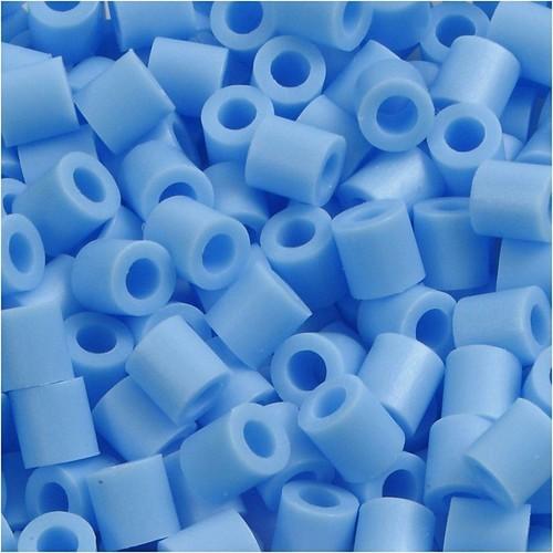 100 x Fuse Beads, Size 5x5mm, Hole Size 2.5mm, Pastel Blue (23) Medium, 1 (CC751230)