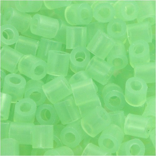 100 x Fuse Beads, Size 5x5mm, Hole Size 2.5mm, Neon Green (25) Medium, 1 (CC751250)