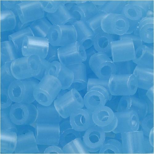 100 x Fuse Beads, Size 5x5mm, Hole Size 2.5mm, Neon Blue (29) Medium, 1 (CC751290)