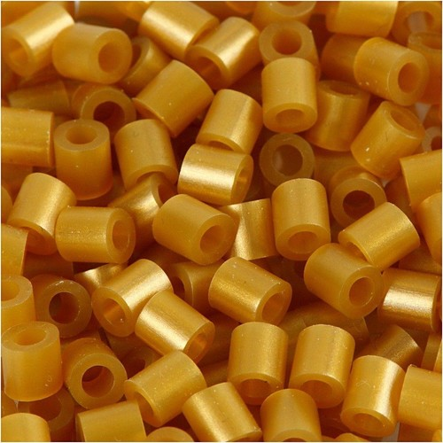 100 x Fuse Beads, Size 5x5mm, Hole Size 2.5mm, Gold, Medium, 1 (CC751330)