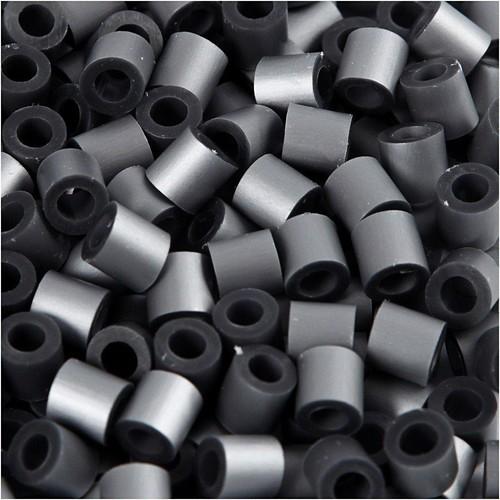 100 x Fuse Beads, Size 5x5mm, Hole Size 2.5mm, Silver, Medium, 1 (CC751340)