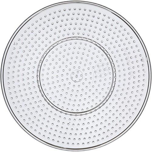 Peg Board, D:15cm, Transparent, Large, Round (10pcs) (CC753021)