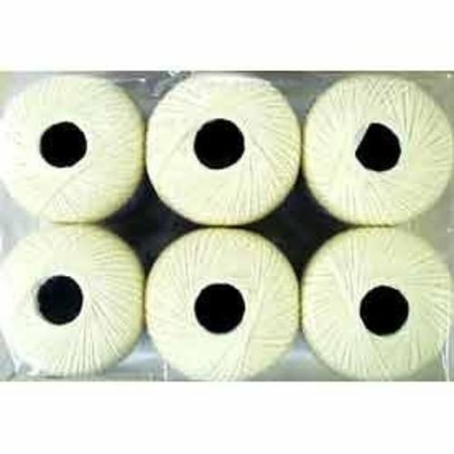 Crochetta Crochet Cotton 450yd (411m) (CCC6) (White)