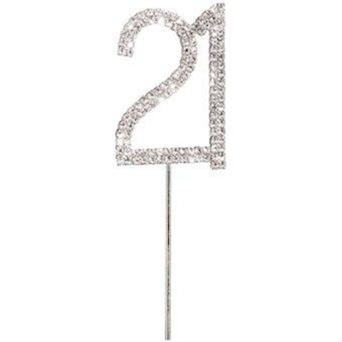 50mm Diamante 21 On Silver Stem x 45mm (CCM3641)