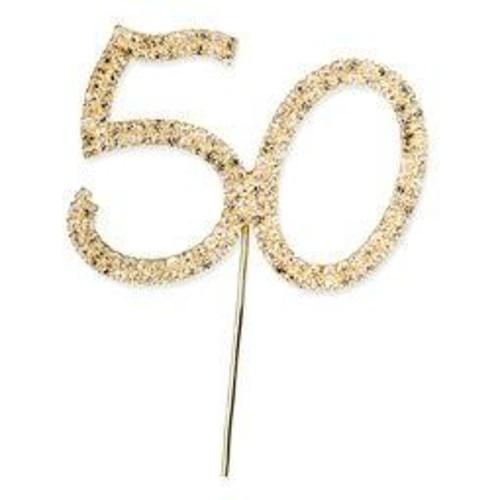 Diamante 50 On Gold Stem 57mm x 45mm (CCM366)