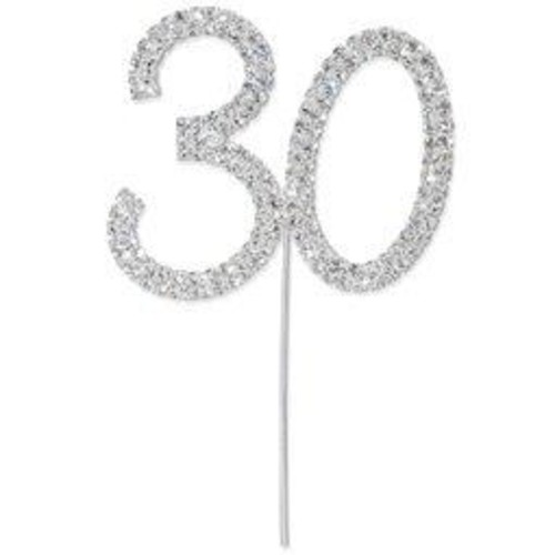 50mm Diamante 30 On Silver Stem 60mm x (CCM375)