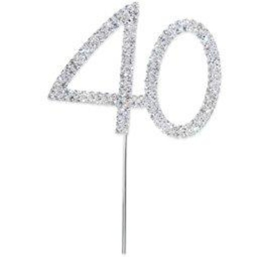 50mm Diamante 40 On Silver Stem 65mm x (CCM376)