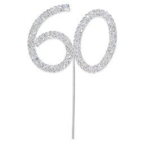 50mm Diamante 60 On Silver Stem 60mm x (CCM377)