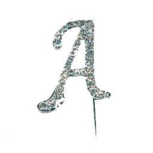 40mm Diamante Letter 'A' On Stem 35mm x CCM388/A
