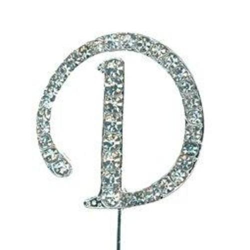 40mm Diamante Letter 'D' On Stem x 42mm CCM388/D