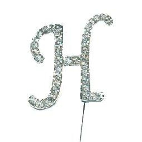 40mm Diamante Letter 'H' On Stem x 45mm CCM388/H