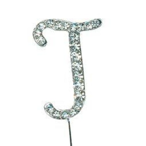 38mm Diamante Letter 'J' On Stem x 42mm CCM388/J