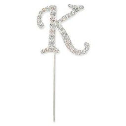 40mm Diamante Letter 'K' On Stem 35mm x CCM388/K