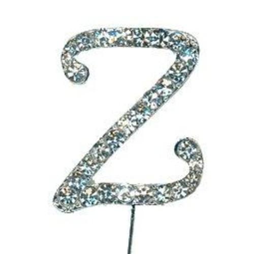 38mm Diamante Letter 'Z' On Stem x 33mm CCM388/Z