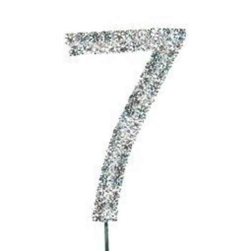 25mm 40mm Diamante Number 7 On Stem x CCM389/7