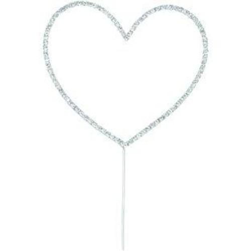 Diamante Heart Large On Stem 11.5cm x 10cm (CCM500)