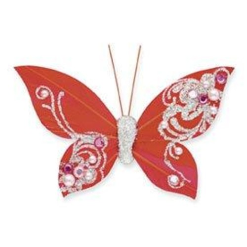 12 x Feather Butterfly With Clip Box (CGB03)