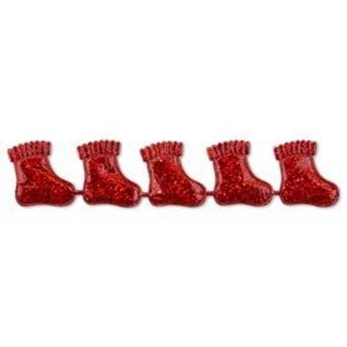25mm Christmas Socks Red x 2m (CGCX03RD)