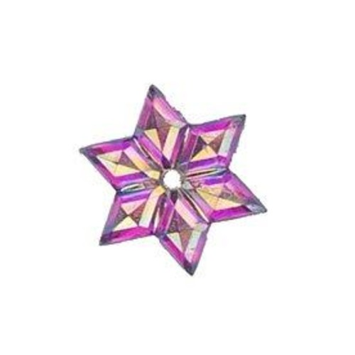 4 x Self Adhesive Crystal Star 2(CGP11)