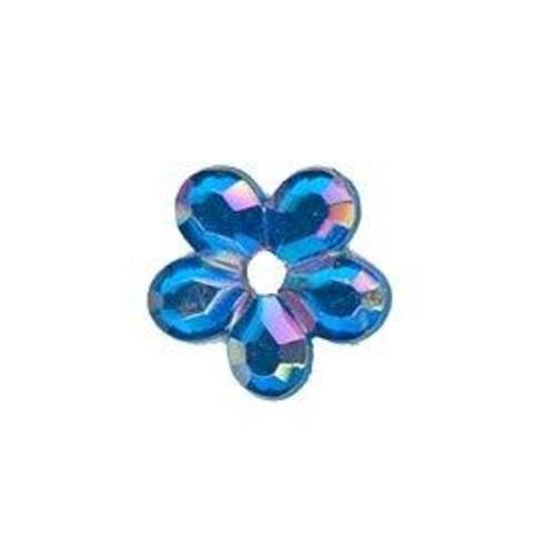 4 x Self Adhesive Crystal Daisy 2(CGP13)(Blue)