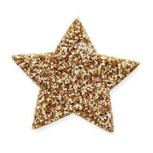 4 x Self Adhesive Glitter Stars 2(CGP15)(Purple)