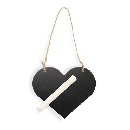 Blackboard Hanging Heart With Chalk 115m x 95mm (CGS190) Club Green
