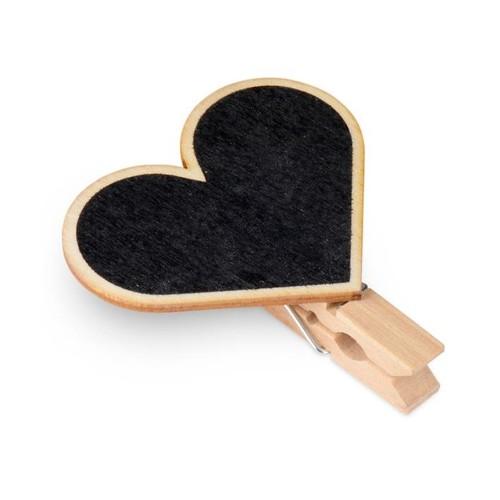 Blackboard Heart Shaped Pegs 4pcs per pack (CGS261)