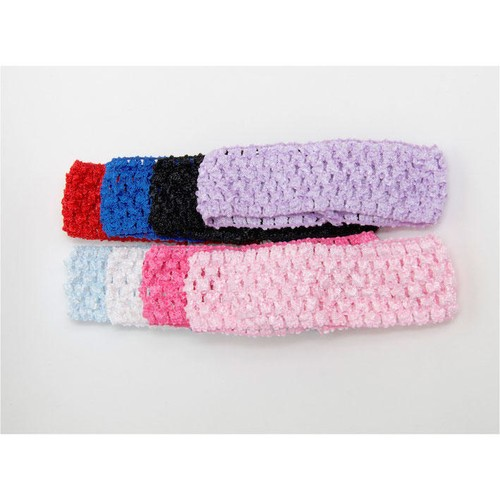 40mm Crochet Headbands x 28cm circumference (un-stretched) (CH40)(Pink)