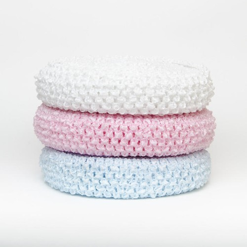 40mm x 10m Crochet Headband Rolls (CHR40) (Pink)