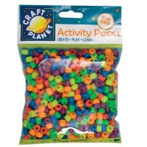 (CPT6511104) - Pony Beads - Bright Neon