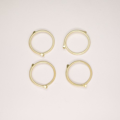 100 x Curtain Rings Gold-Coloured Split (CRSP)