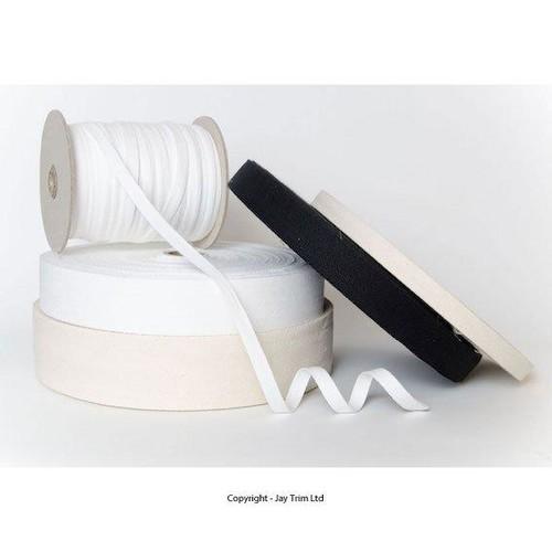 15mm Cotton Webbing x 50m (CW15)(White)