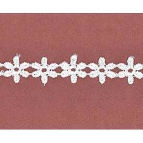 13mm x 27.4m Daisy Lace White Card