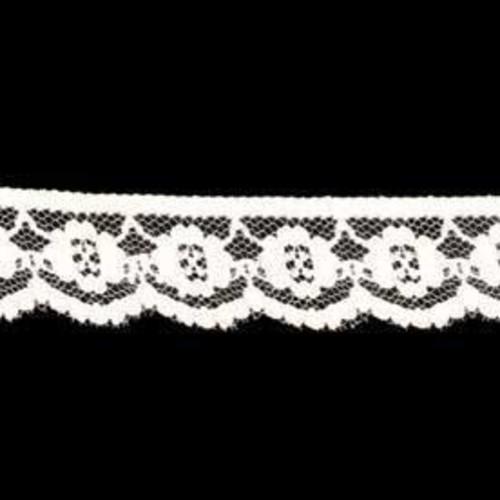 25mm x 200m Flat Lace White (DC422901)