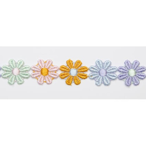 25mm x 27.4m Daisy Lace Multi Muted (DC504799)