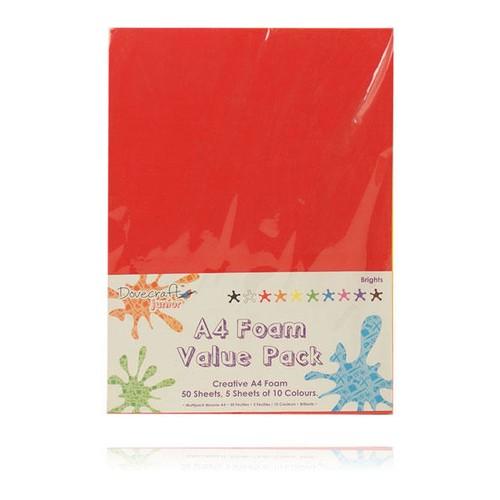 A4 Foam Sheets Value Pack x 50 Sheets x 10 Colours (DCFM012)