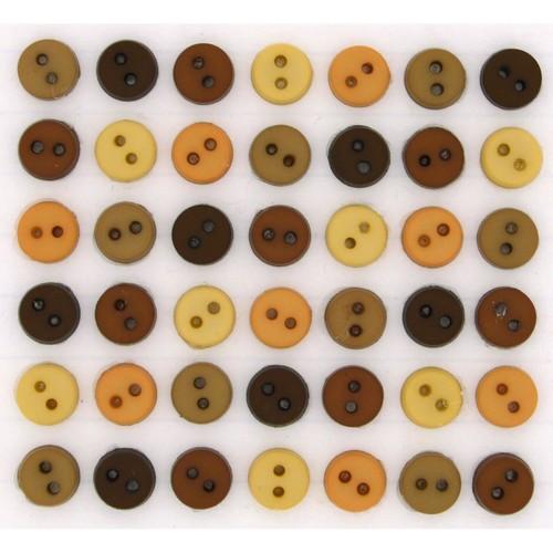 (DIU01567) - Dress It Up! Buttons - Tiny Round - Natural