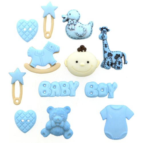 (DIU02120) - Dress It Up! Buttons - MM Baby Boy