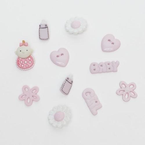 (DIU02121) - Dress It Up! Buttons - MM Baby Girl