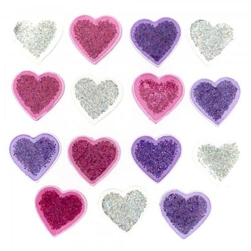 (DIU02262) - Dress It Up! Buttons - Glitter Hearts